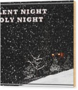 Silent Night Card Wood Print