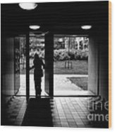 Silhouette Of A Man Wood Print