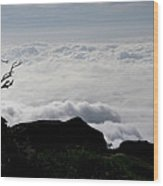 Silhouette Photographer With Group Of Clouds And Fogs Wood Print by Nawarat Namphon