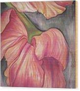Silky Tulips Wood Print by Husna Rafath