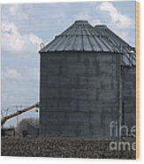 Silos And Augers Wood Print