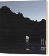 Silouette Pfeiffer Rock Wood Print