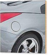 Silver 350z Nissan Wood Print