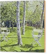 Silver Birches Wood Print by Lucy Willis