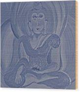 Silver Buddha Wood Print