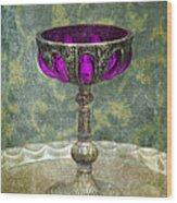 Silver Chalice With Jewels Wood Print by Jill Battaglia