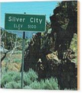 Silver City Nevada Wood Print