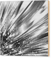 Silver Explosion Wood Print