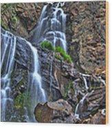 Silver Falls Wood Print