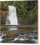 Silver Falls Waterfall Wood Print