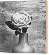 Silver Lady Wood Print