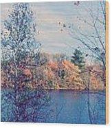 Silver Lake In Fall Wood Print