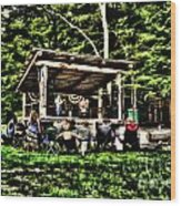 Silver Lake One Man Jam Fest Wood Print