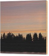 Silver Lake Sunset Wood Print