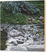 Silver Stream Wood Print