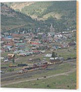 Silverton Colorado Painterly Wood Print