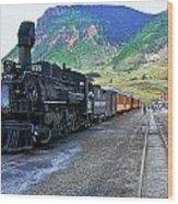 Silverton Train Wood Print