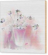 Simple Spring Flowers Wood Print