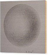 Simply A Ball Wood Print
