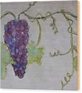 Simply Grape Wood Print