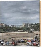 Simply North Beach From Tenby Harbour Wood Print