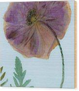 Simply Poppy  Wood Print
