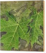 Simply Summer Maple Leaves Wood Print