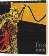 Sine Wave Machine Landscape 1 Wood Print