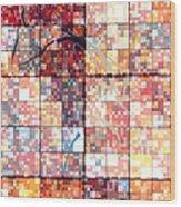 Sinful Geometric Red Wood Print