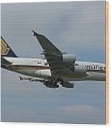 Singapore Airlines Airbus A380 Wood Print