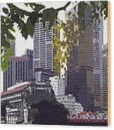 Singapore ... The Lion City  Wood Print
