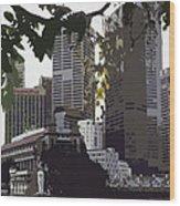Singapore's Merlion Wood Print by Juergen Weiss