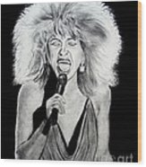 Singer And Actress Tina Turner  Wood Print