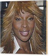 Singer Mary J. Blige Wood Print