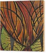 Sinister Feline Wood Print