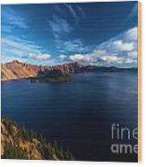 Sinott Crater Lake View Wood Print