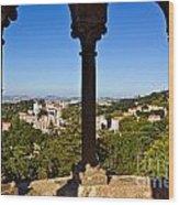 Sintra Balcony Wood Print