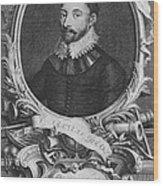 Sir Francis Drake, English Explorer Wood Print by Photo Researchers, Inc.