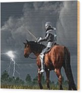 Sir Lightning Rod Wood Print