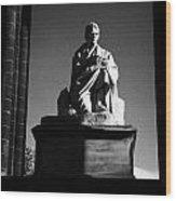 Sir Walter Scott Statue Inside The Monument On Princes Street Edinburgh Scotland Uk United Kingdom Wood Print