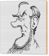 Sir William Hooker, Caricature Wood Print by Gary Brown