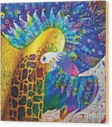 Sirin The Bird Wood Print