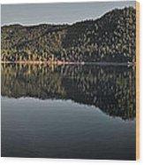 Siskiyou Lake Panorama Wood Print