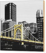 Sister #2 In Pittsburgh Wood Print