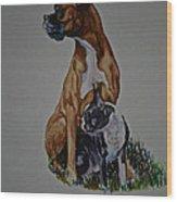 Sister Story Wood Print by Susan Herber