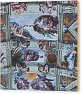 Sistine Chapel Ceiling Wood Print