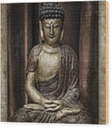 Sitting Buddha Wood Print