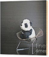 Sitting Meditation. Floyd From Travelling Pandas Series. Wood Print