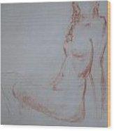 Sitting Woman 2 Wood Print