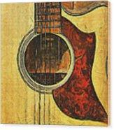 Six-string Acoustic Viii Wood Print